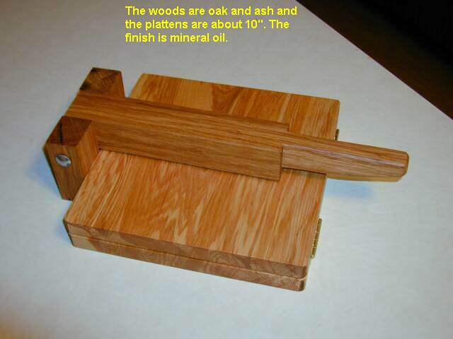 photo of 2nd tortilla press